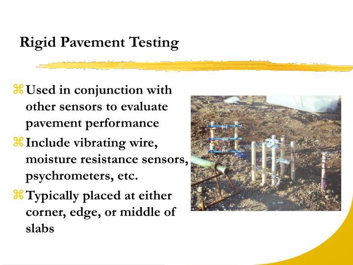 Rigid Pavement Testing