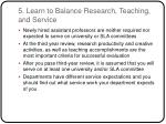 5 learn to balance research teaching and service