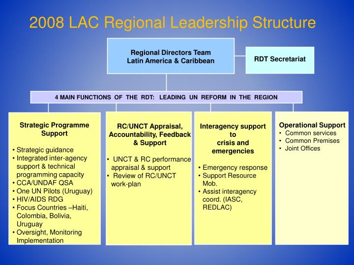 2008 LAC Regional Leadership Structure