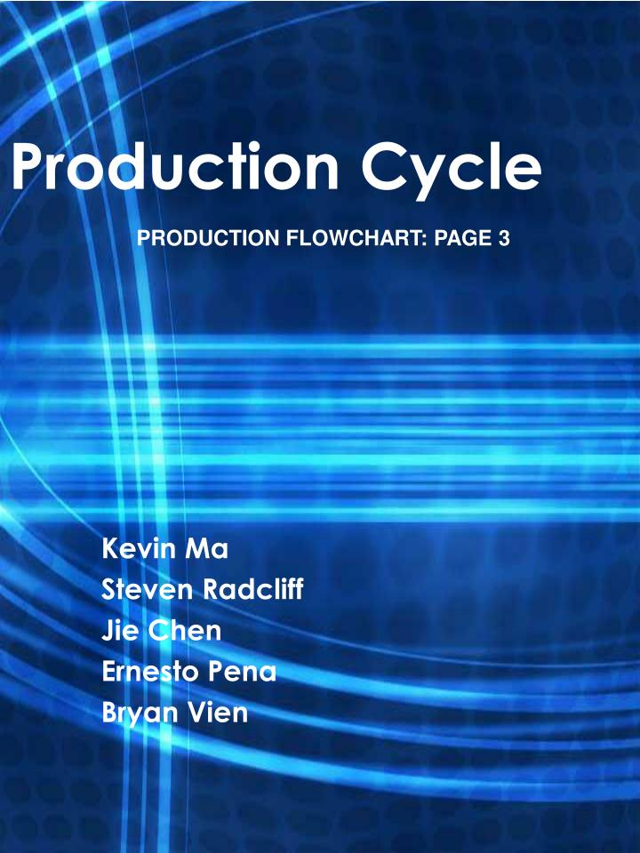 production cycle n.