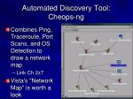 automated discovery tool cheops ng