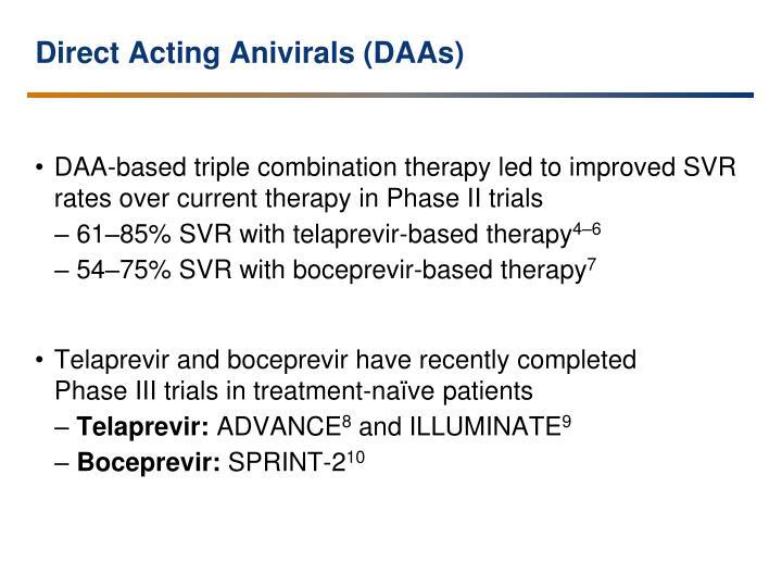 Direct Acting Anivirals (DAAs)