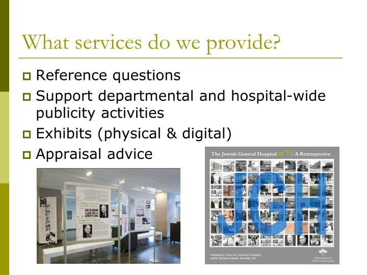 What services do we provide?