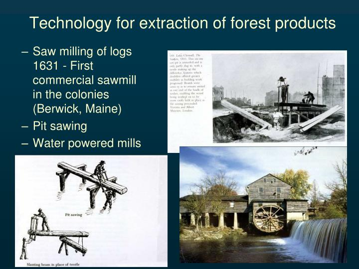 Technology for extraction of forest products