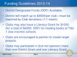 funding guidelines 2013 14