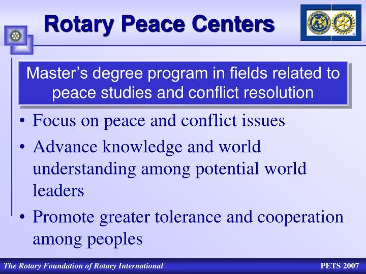 Rotary Peace Centers
