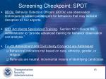 screening checkpoint spot
