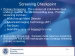 screening checkpoint