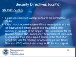 security directives cont d1