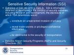 sensitive security information ssi