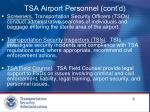 tsa airport personnel cont d