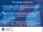tsa airport personnel