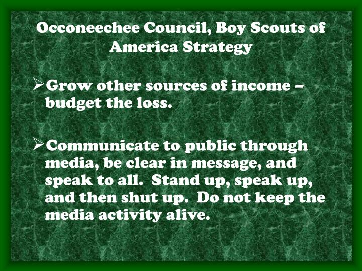 Occoneechee Council, Boy Scouts of America Strategy
