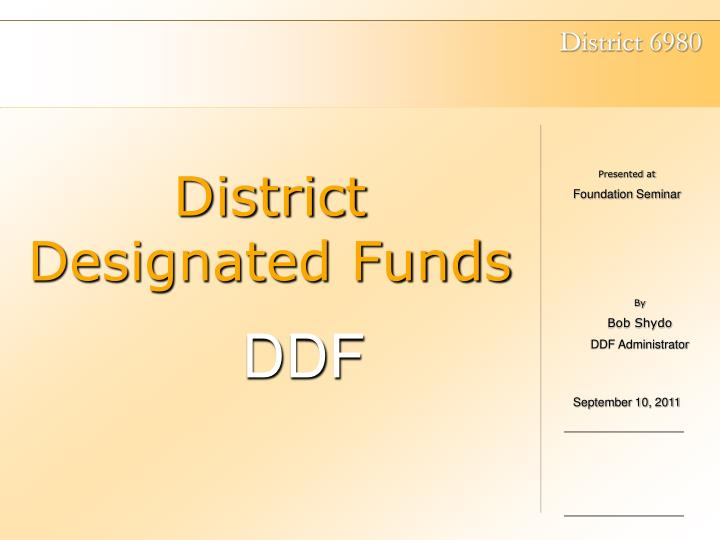 district designated funds n.