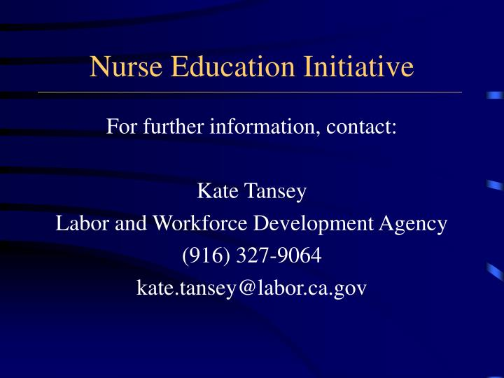Nurse Education Initiative