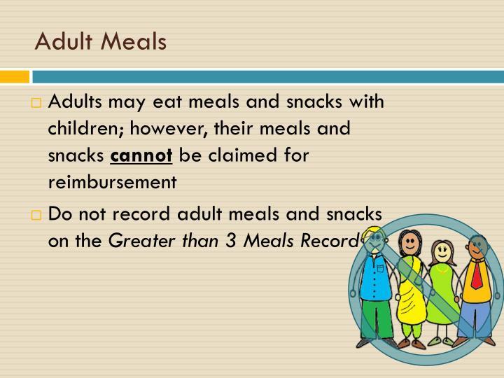 Adult Meals
