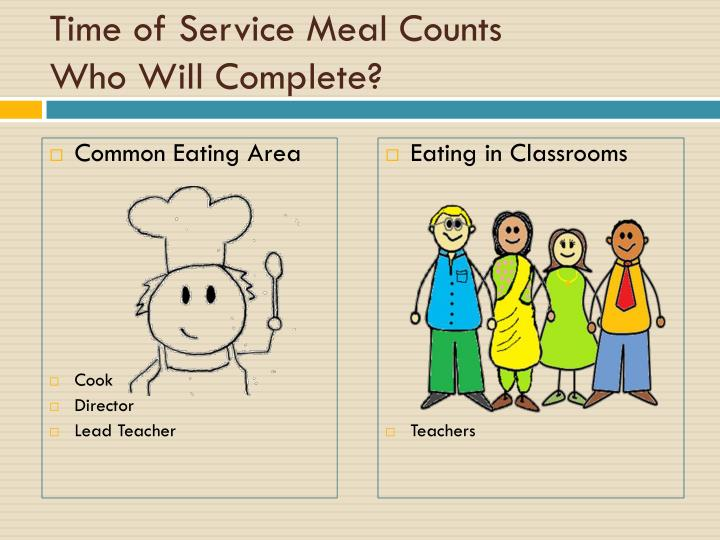 Time of Service Meal Counts