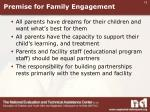 premise for family engagement