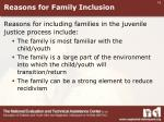 reasons for family inclusion