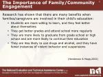 the importance of family community engagement