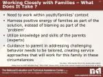 working closely with families what does it take