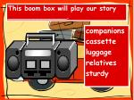 this boom box will play our story