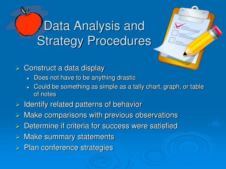 Data Analysis and