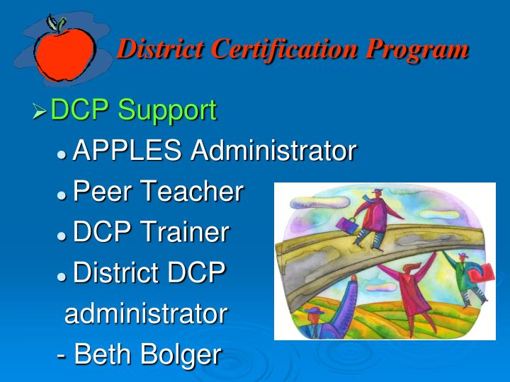 District Certification Program