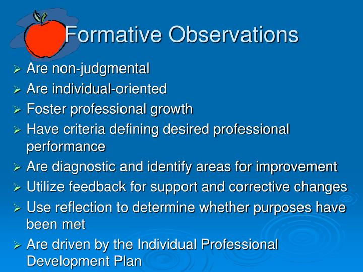 Formative Observations