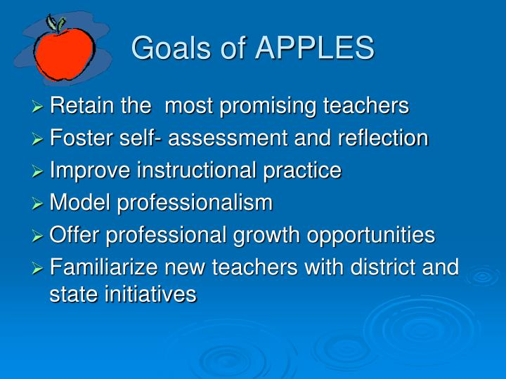 Goals of APPLES