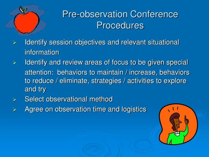 Pre-observation Conference Procedures
