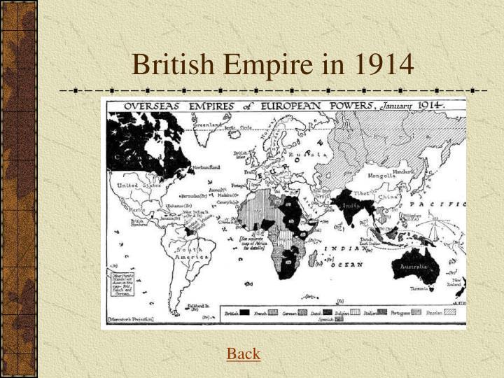 British Empire in 1914