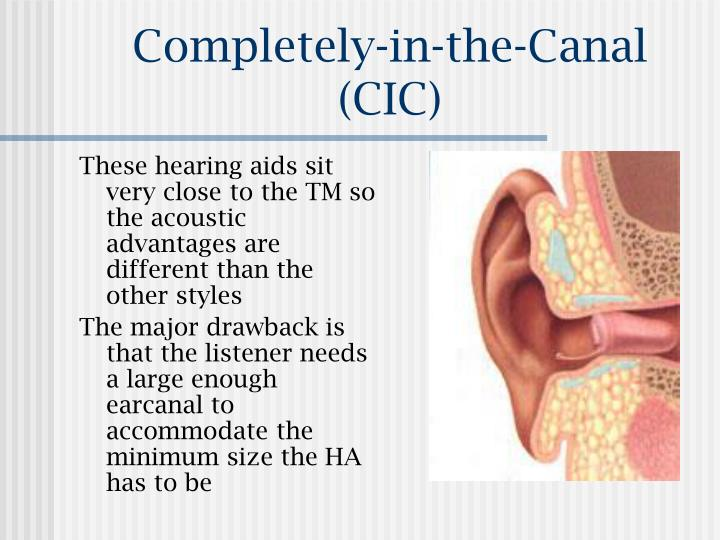 Completely-in-the-Canal (CIC)
