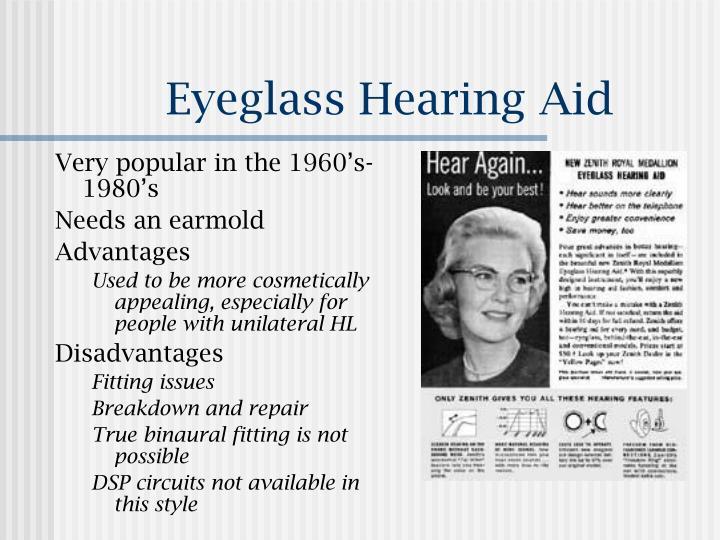 Eyeglass Hearing Aid