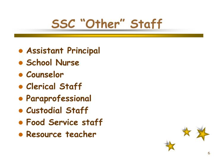 "SSC ""Other"" Staff"