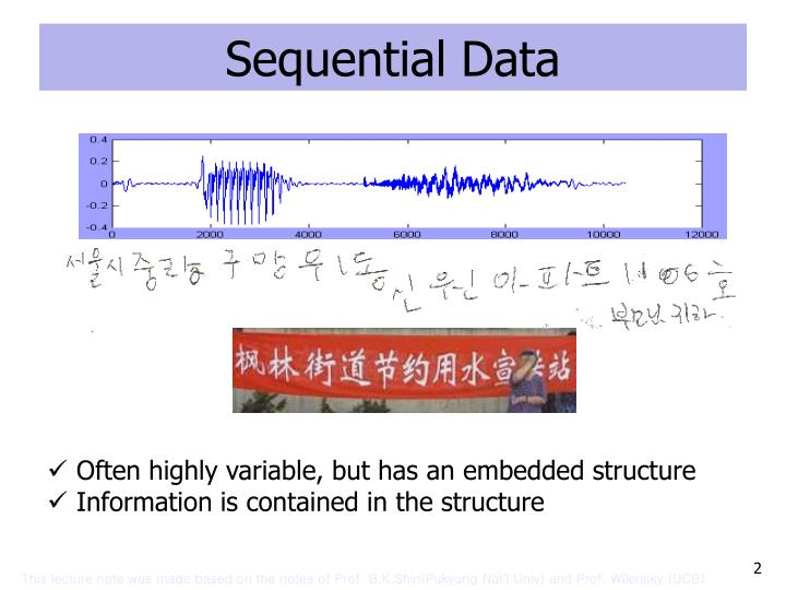 Sequential data