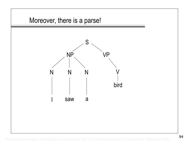 Moreover, there is a parse!