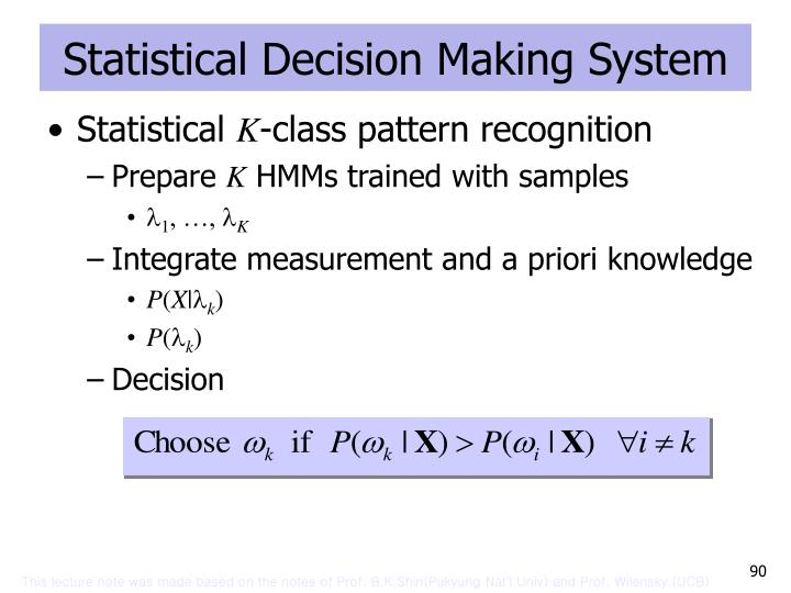 Statistical Decision Making System