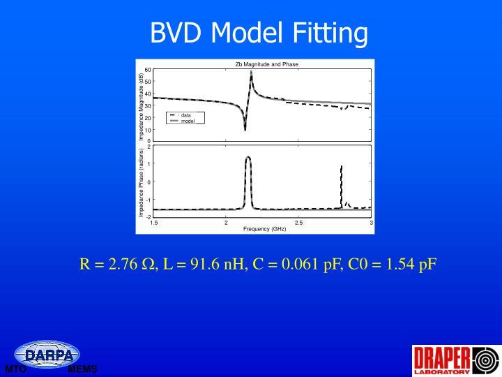 BVD Model Fitting