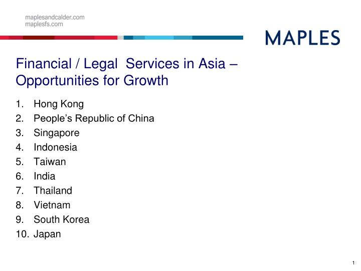 Financial legal services in asia opportunities for growth