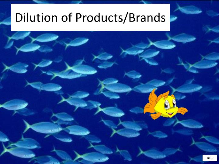 Dilution of Products/Brands