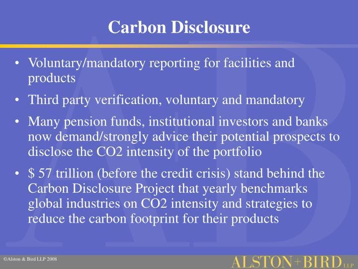 Carbon Disclosure