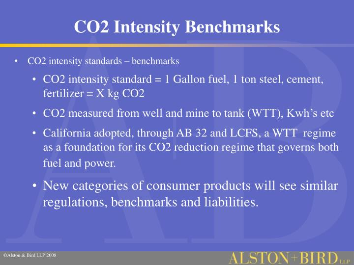 CO2 Intensity Benchmarks