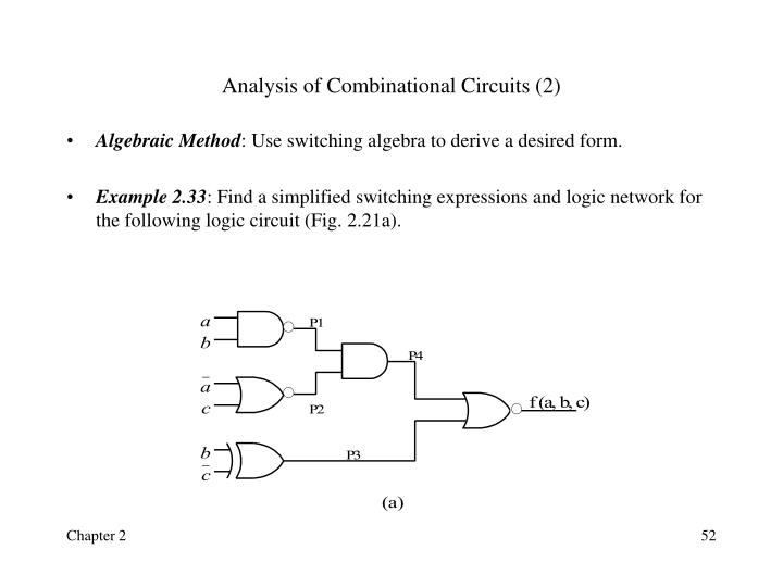 Analysis of Combinational Circuits (2)