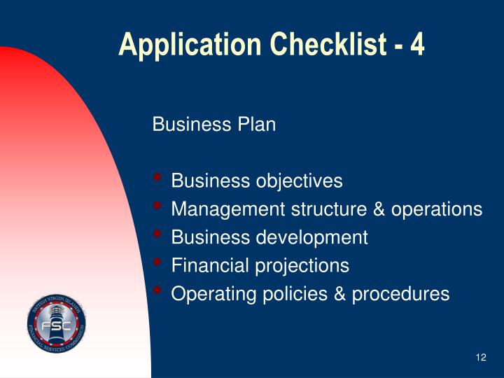 Application Checklist - 4