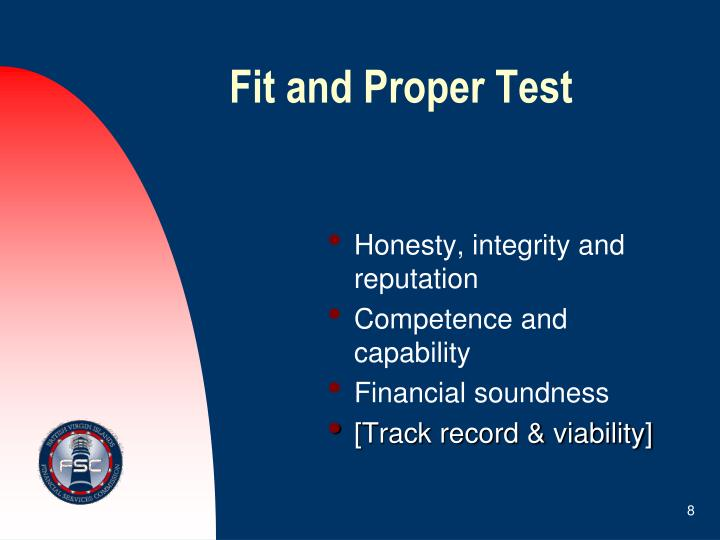 Fit and Proper Test