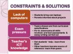 constraints solutions