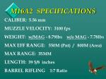m16a2 specifications
