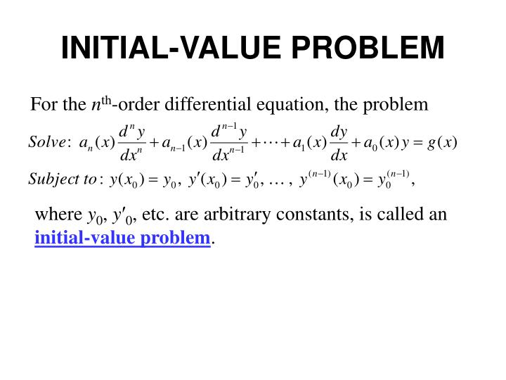 Initial value problem