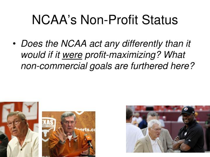 NCAA's Non-Profit Status